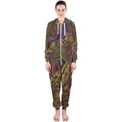 Fractal Virtual Abstract Hooded Jumpsuit (ladies)