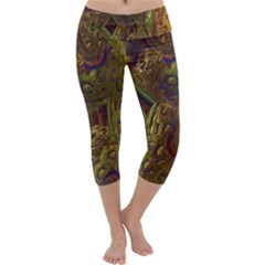 Fractal Virtual Abstract Capri Yoga Leggings