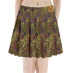 Fractal Virtual Abstract Pleated Mini Skirt
