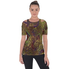 Fractal Virtual Abstract Short Sleeve Top