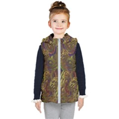 Fractal Virtual Abstract Kid s Hooded Puffer Vest