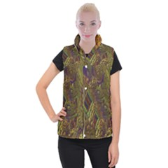 Fractal Virtual Abstract Women s Button Up Vest