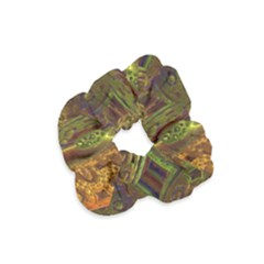 Fractal Virtual Abstract Velvet Scrunchie