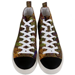 Fractal Virtual Abstract Men s Mid Top Canvas Sneakers