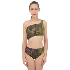 Fractal Virtual Abstract Spliced Up Swimsuit