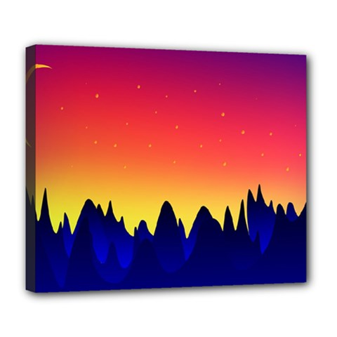 Night Landscape Deluxe Canvas 24  X 20