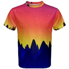Night Landscape Men s Cotton Tee