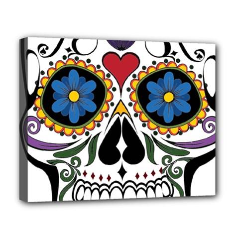 Cranium Sugar Skull Deluxe Canvas 20  X 16