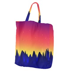 Night Landscape Giant Grocery Zipper Tote