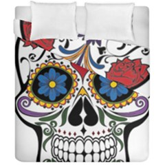 Cranium Sugar Skull Duvet Cover Double Side (california King Size)