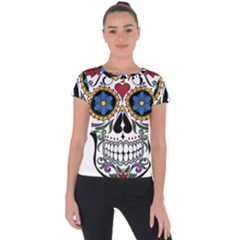 Cranium Sugar Skull Short Sleeve Sports Top