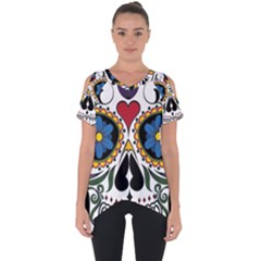 Cranium Sugar Skull Cut Out Side Drop Tee
