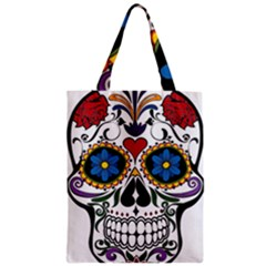 Cranium Sugar Skull Zipper Classic Tote Bag