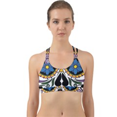 Cranium Sugar Skull Back Web Sports Bra