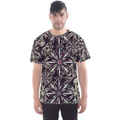 Dark Tropical Pattern Men s Sports Mesh Tee