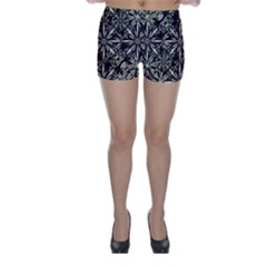 Dark Tropical Pattern Skinny Shorts