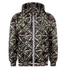 Dark Tropical Pattern Men s Zipper Hoodie