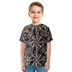 Dark Tropical Pattern Kids  Sport Mesh Tee