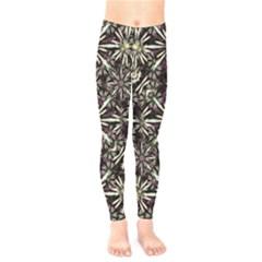 Dark Tropical Pattern Kids  Legging