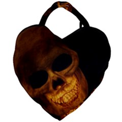 Laughing Skull Giant Heart Shaped Tote