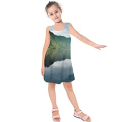 Evening Landscape Kids  Sleeveless Dress