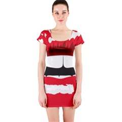 Sexy Lips Short Sleeve Bodycon Dress