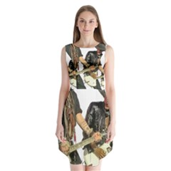 Rnr Sleeveless Chiffon Dress