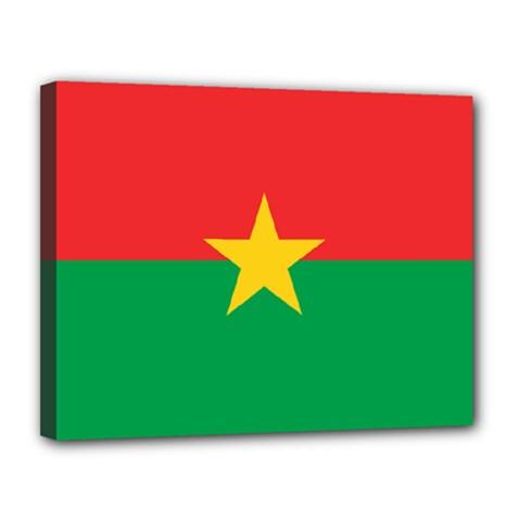 Flag Of Burkina Faso Canvas 14  X 11