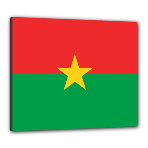 Flag Of Burkina Faso Canvas 24  X 20