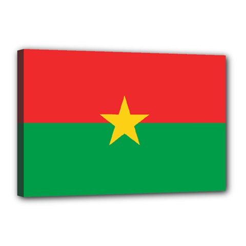 Flag Of Burkina Faso Canvas 18  X 12