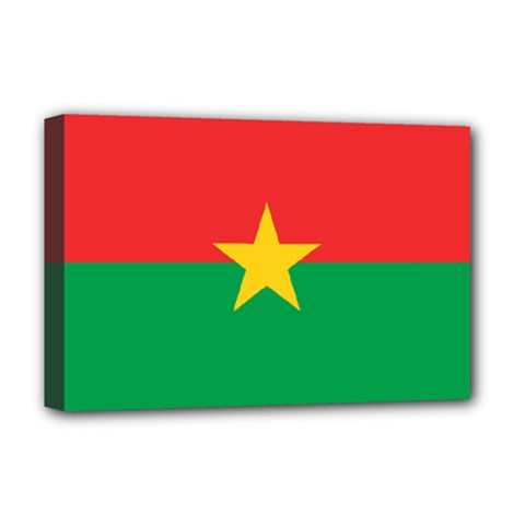 Flag Of Burkina Faso Deluxe Canvas 18  X 12