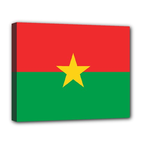 Flag Of Burkina Faso Deluxe Canvas 20  X 16