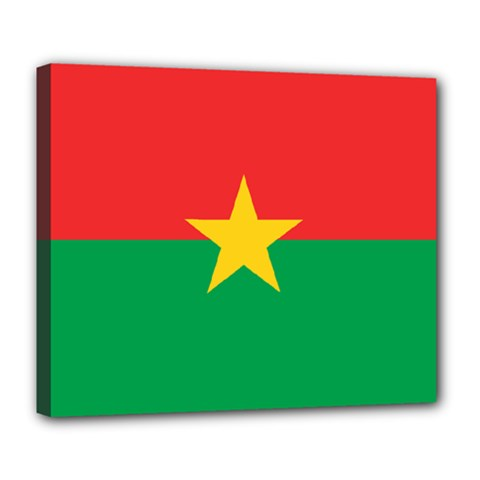 Flag Of Burkina Faso Deluxe Canvas 24  X 20