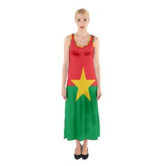 Flag Of Burkina Faso Sleeveless Maxi Dress