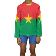 Flag Of Burkina Faso Kids  Long Sleeve Swimwear