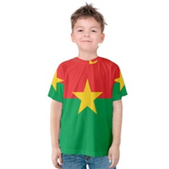 Flag Of Burkina Faso Kids  Cotton Tee