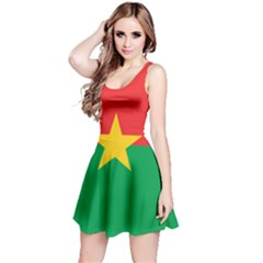 Flag Of Burkina Faso Reversible Sleeveless Dress