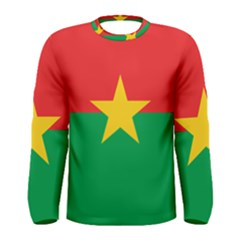 Flag Of Burkina Faso Men s Long Sleeve Tee
