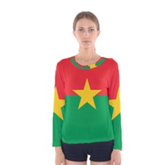 Flag Of Burkina Faso Women s Long Sleeve Tee