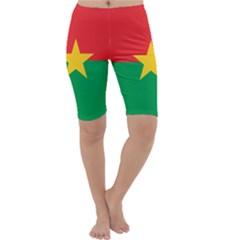 Flag Of Burkina Faso Cropped Leggings