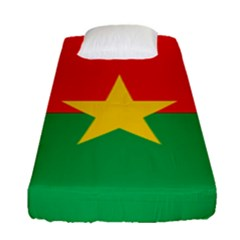 Flag Of Burkina Faso Fitted Sheet (single Size)