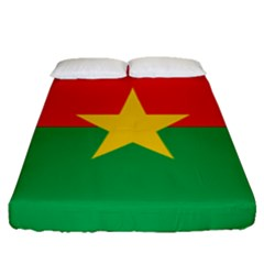 Flag Of Burkina Faso Fitted Sheet (queen Size)