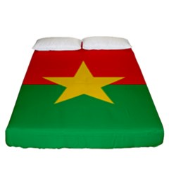 Flag Of Burkina Faso Fitted Sheet (king Size)