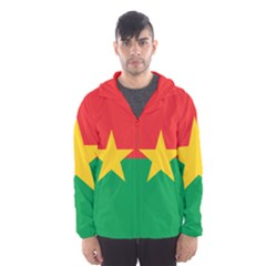 Flag Of Burkina Faso Hooded Wind Breaker (men)