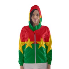 Flag Of Burkina Faso Hooded Wind Breaker (women)