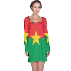 Flag Of Burkina Faso Long Sleeve Nightdress