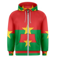 Flag Of Burkina Faso Men s Zipper Hoodie