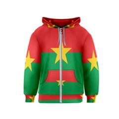 Flag Of Burkina Faso Kids  Zipper Hoodie