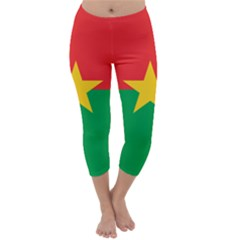 Flag Of Burkina Faso Capri Winter Leggings