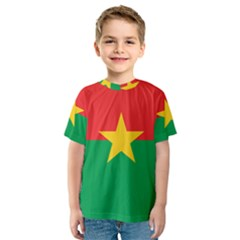Flag Of Burkina Faso Kids  Sport Mesh Tee